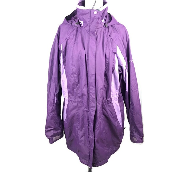 Columbia Women's Purple Winter Outer Jacket Shell